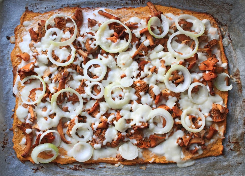 Gluteeniton ja vähärasvainen sienipizza